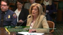 Assemblywoman Waldron Presents Her Bill, AB 19, to the Assembly Natural Resources Committee