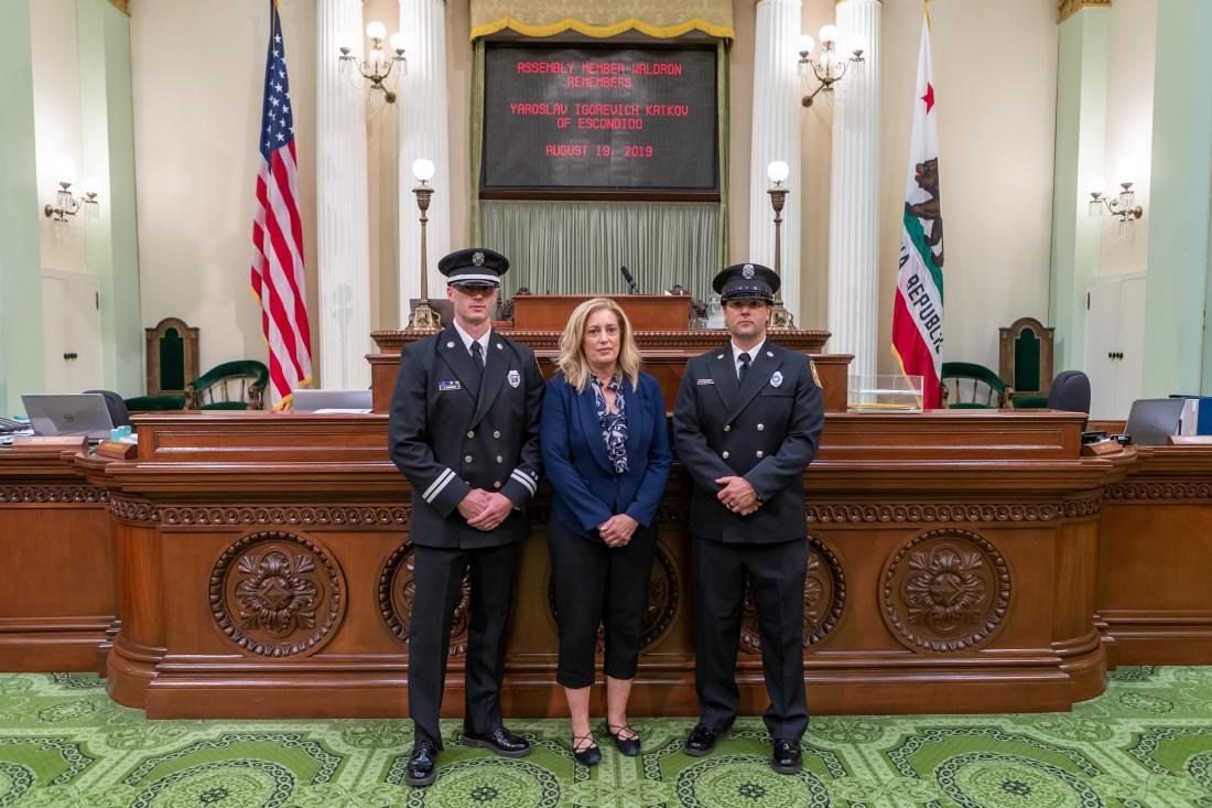 Assemblymember Waldron Honors the Service of Fallen CalFire Escondido Firefighter Igorevich Katkov
